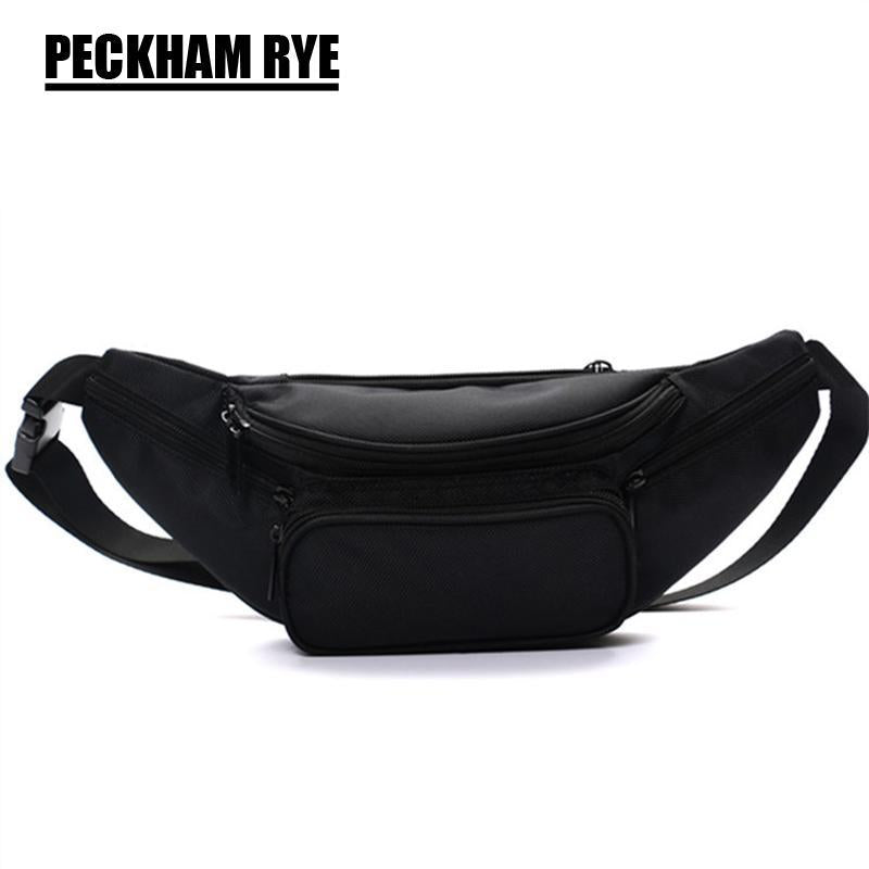 Black Polyester Zipper Women'S Waist Bag Belt Bag Men Money Belt Fanny Packs Bag-Bags-Bargain Bait Box-Black-Bargain Bait Box