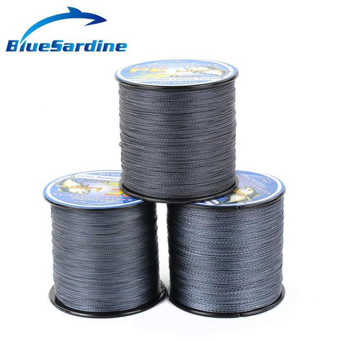 Bluesardine 300M Braided Fishing Line Gray Multifilament Pe Super Strong 4 Braid-BlueSardine Official Store-0.4-Bargain Bait Box
