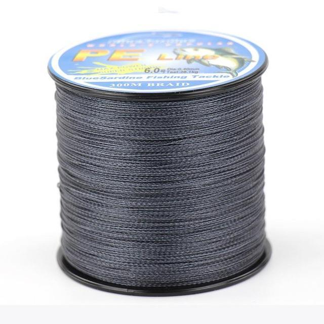 Bluesardine 300M Super Strong Braided Fishing Line Multifilament Pe 4 Braid-BlueSardine Official Store-Dark Grey-0.4-Bargain Bait Box