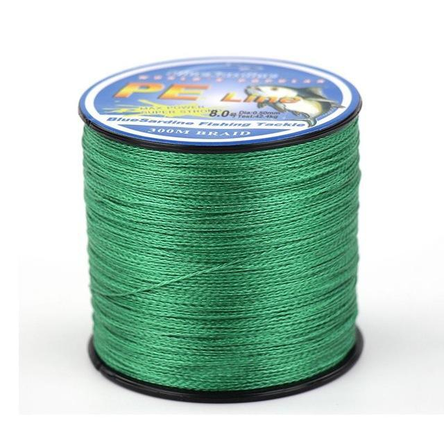 Bluesardine 300M Super Strong Braided Fishing Line Multifilament Pe 4 Braid-BlueSardine Official Store-Green-0.4-Bargain Bait Box