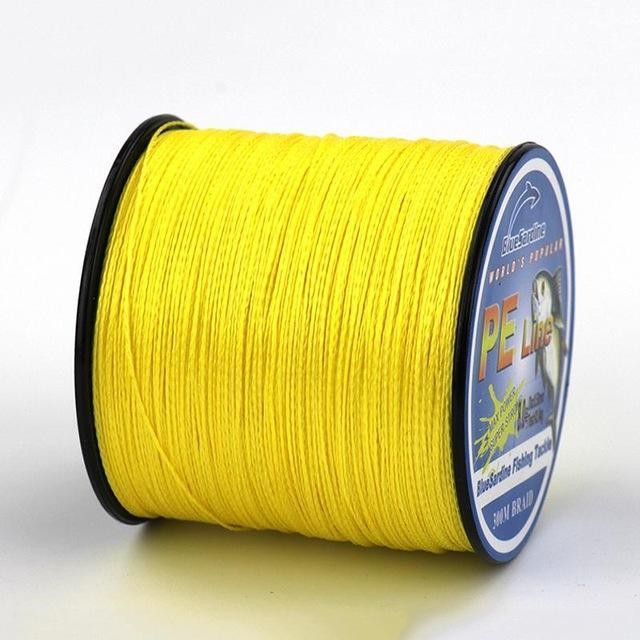 Bluesardine 300M Super Strong Braided Fishing Line Multifilament Pe 4 Braid-BlueSardine Official Store-Yellow-0.4-Bargain Bait Box