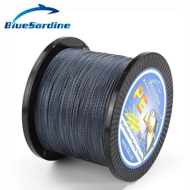 Bluesardine 500M Braided Fishing Line Multifilament Pe Braided Wire Fishing-BlueSardine Official Store-Dark Grey-0.4-Bargain Bait Box