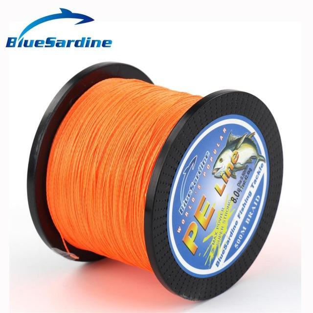 Bluesardine 500M Braided Fishing Line Multifilament Pe Braided Wire Fishing-BlueSardine Official Store-Orange-0.4-Bargain Bait Box