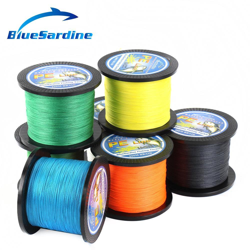 Bluesardine 500M Braided Fishing Line Multifilament Pe Braided Wire Fishing-BlueSardine Official Store-White-0.4-Bargain Bait Box
