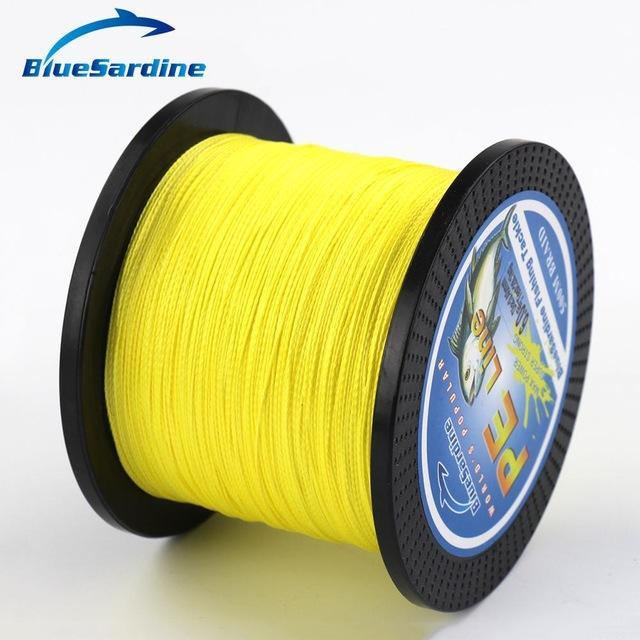 Bluesardine 500M Braided Fishing Line Multifilament Pe Braided Wire Fishing-BlueSardine Official Store-Yellow-0.4-Bargain Bait Box