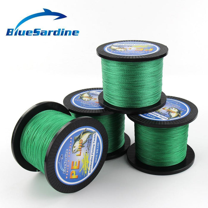 Bluesardine 500M Green Braided Fishing Line Multifilament Fishing Wire Pe-Blue Sardine-0.4-Bargain Bait Box
