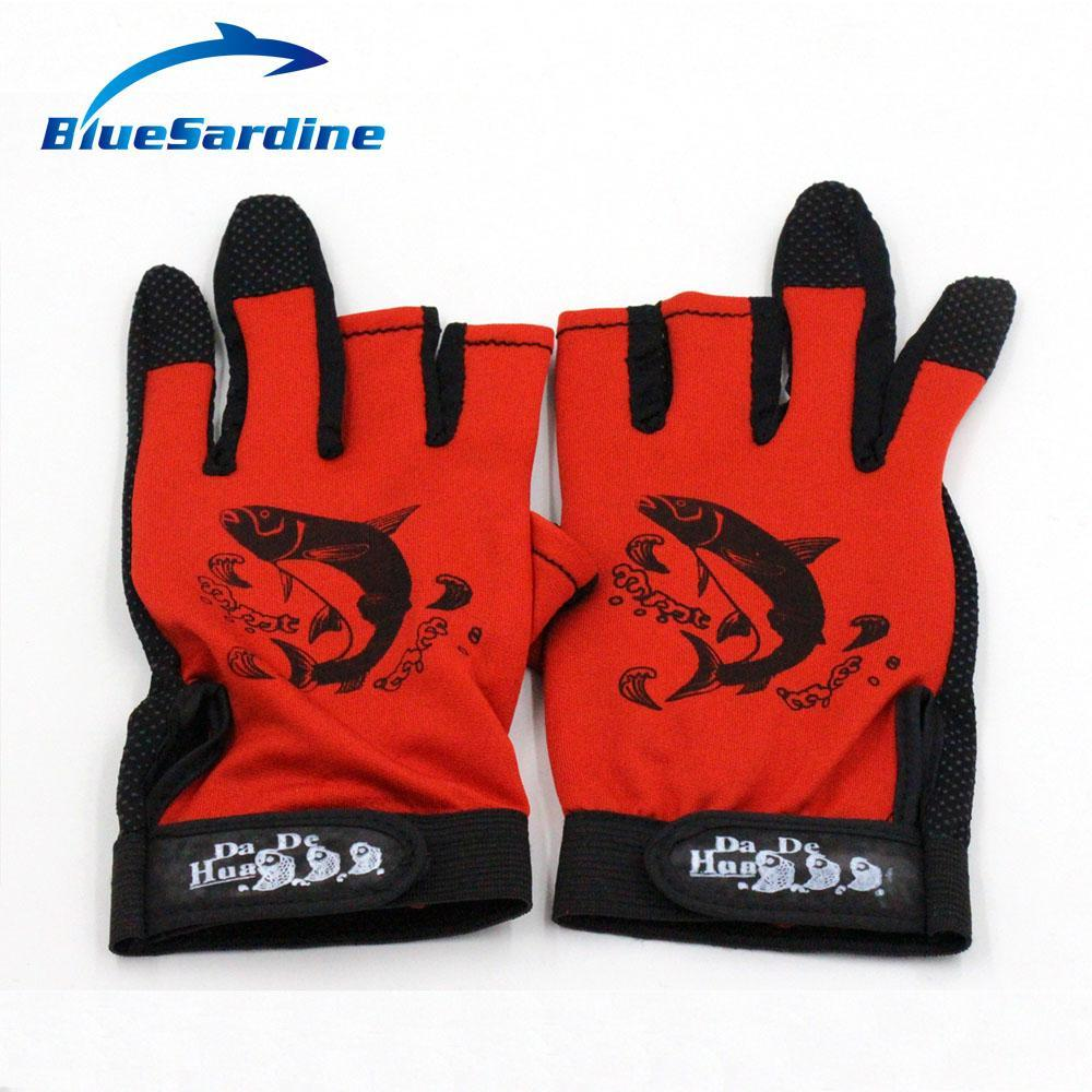Bluesardine Fishing Gloves Anti Slip 3 Half Fingers Sport Skidproof Mesh-Gloves-Bargain Bait Box-Bargain Bait Box