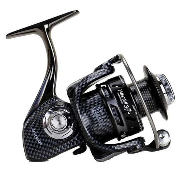Bm1000 - 7000 Series Aluminum Spool Fishing Reel Superior Ratio 5.5:1 12+1Bb-Spinning Reels-duo dian Store-1000 Series-Bargain Bait Box