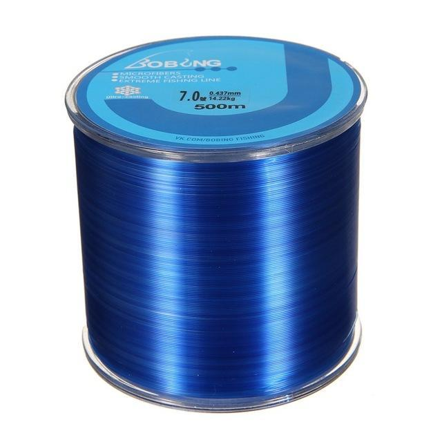 Bobing 1Pc Monofilament Nylon 500M Fishing Line Super Powerful Fish Wire For-GoteCool Outdoor Store-Blue-0.8-Bargain Bait Box