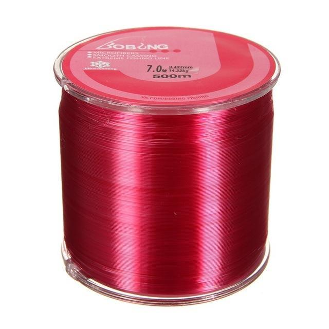 Bobing 1Pc Monofilament Nylon 500M Fishing Line Super Powerful Fish Wire For-GoteCool Outdoor Store-Red-0.8-Bargain Bait Box