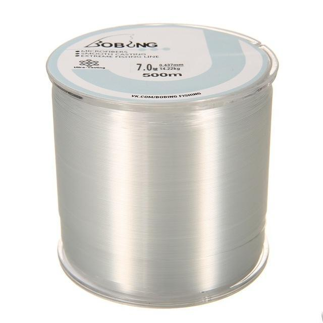 Bobing 1Pc Monofilament Nylon 500M Fishing Line Super Powerful Fish Wire For-GoteCool Outdoor Store-White-0.8-Bargain Bait Box