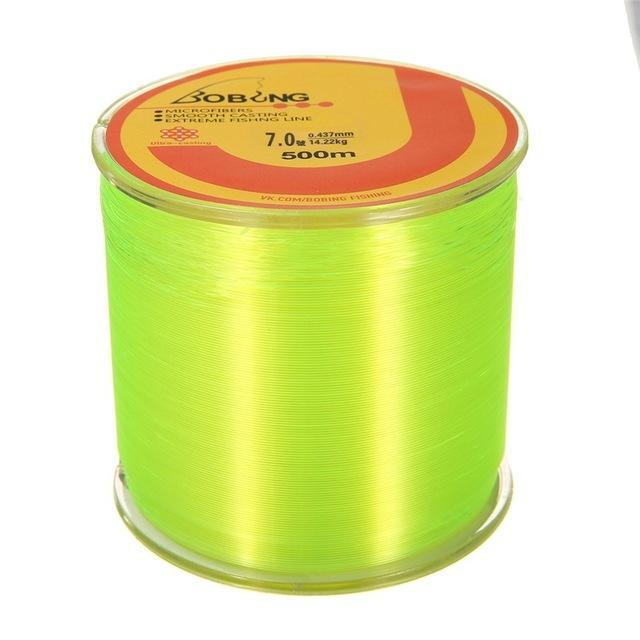 Bobing 1Pc Monofilament Nylon 500M Fishing Line Super Powerful Fish Wire For-GoteCool Outdoor Store-Yellow-0.8-Bargain Bait Box