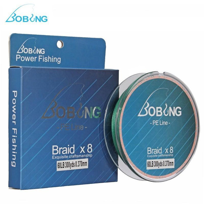 Bobing 300M Pe Braided Line Super Strong Multifilament 8 Strands Pe Fishing-Angler & Cyclist's Store-Green-0.6-Bargain Bait Box