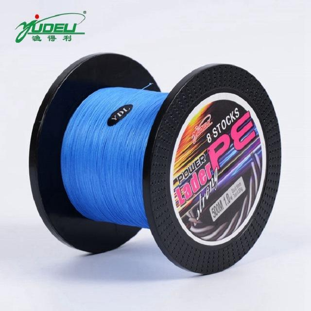 Bobing Ydl 500M 8 Strands Pe Braided Fishing Line Fishing Rope Wire String-Angler & Cyclist's Store-Blue-1.0-Bargain Bait Box