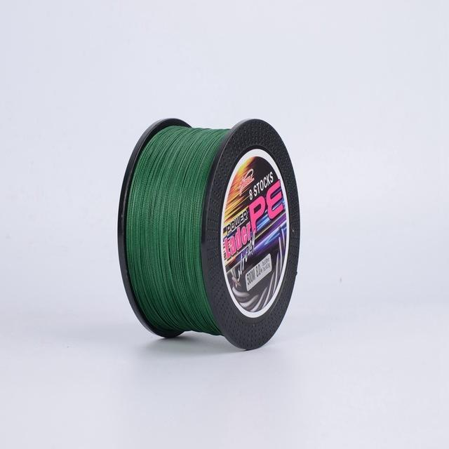 Bobing Ydl 500M 8 Strands Pe Braided Fishing Line Fishing Rope Wire String-Angler & Cyclist's Store-Green-1.0-Bargain Bait Box