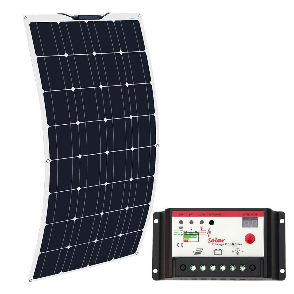 Boguang Brand Solar Battery Flexible Solar Panel 100W 12V 24V Controller 10A-Solar Cells-DIY Solar Kits &Parts Store-China-Bargain Bait Box