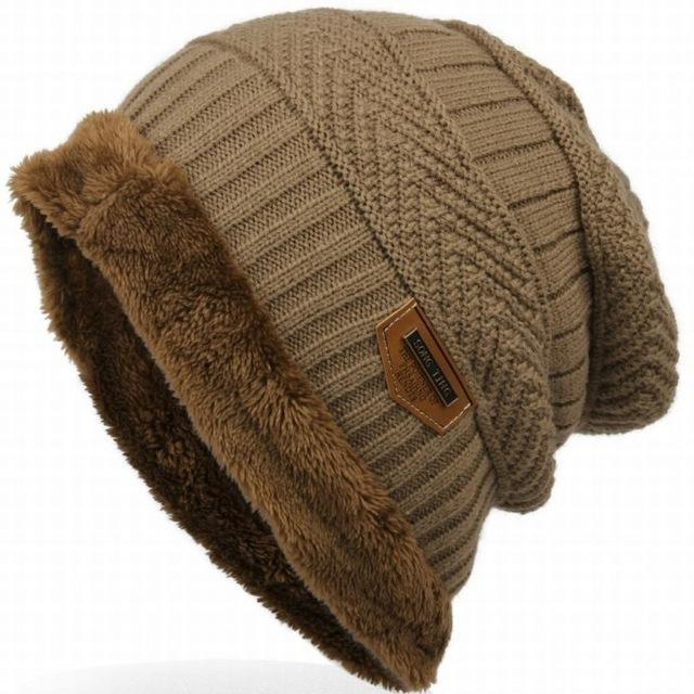 Bonnet Gorros Caps For Men Women Thick Beanie Men Knitted Hat Warm Skullies &-Beanies-Bargain Bait Box-beige-Bargain Bait Box