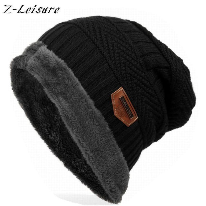 Bonnet Gorros Caps For Men Women Thick Beanie Men Knitted Hat Warm Skullies &-Beanies-Bargain Bait Box-black-Bargain Bait Box