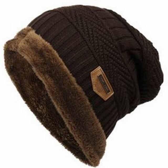 Bonnet Gorros Caps For Men Women Thick Beanie Men Knitted Hat Warm Skullies &-Beanies-Bargain Bait Box-brown-Bargain Bait Box