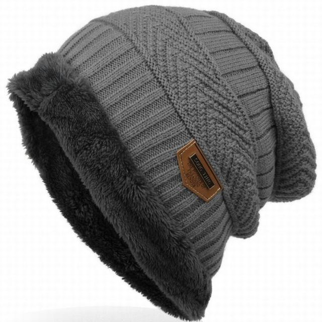 Bonnet Gorros Caps For Men Women Thick Beanie Men Knitted Hat Warm Skullies &-Beanies-Bargain Bait Box-gray-Bargain Bait Box
