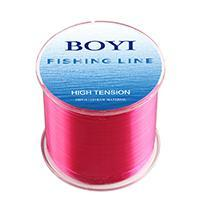 Boyi Nylon Fishing Line 500M Monofilament Line Japan Material 7 Colors High-BOYIFT Store-PINK-0.8-Bargain Bait Box