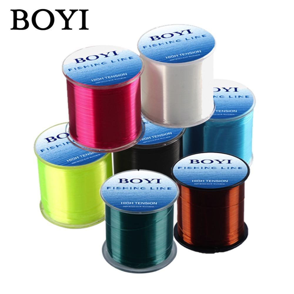 Boyi Nylon Fishing Line 500M Monofilament Line Japan Material 7 Colors High-BOYIFT Store-WHITE-0.8-Bargain Bait Box