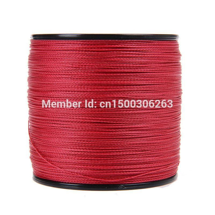 Brand 500Meters Line Fishing 4Strand Red Color Super Sea Fishing Tool Braided Pe-WuHe Pro Fishing tackle-0.4-Bargain Bait Box