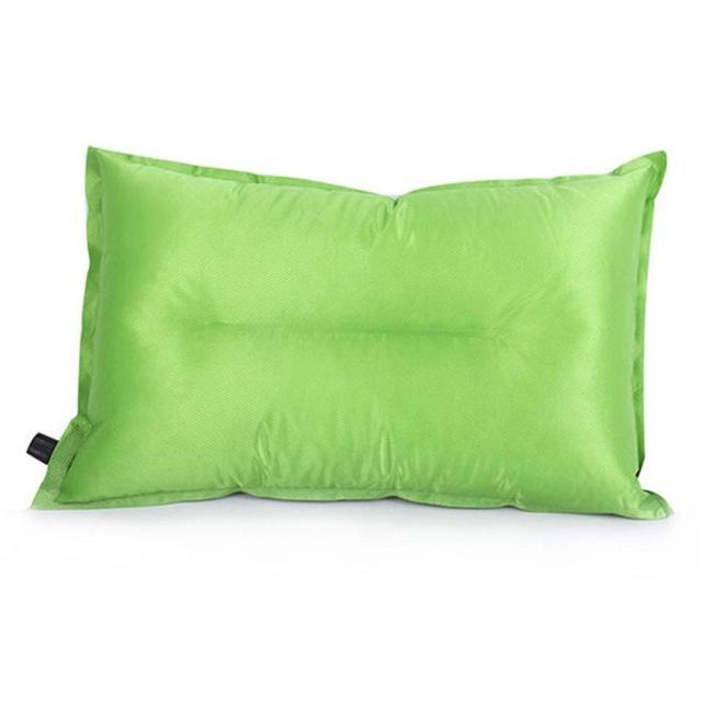 Brand Automatic Inflatable Pillow Air Cushion For Hiking Backpacking Travel-MILLIONS OF SHARE-Green-Bargain Bait Box