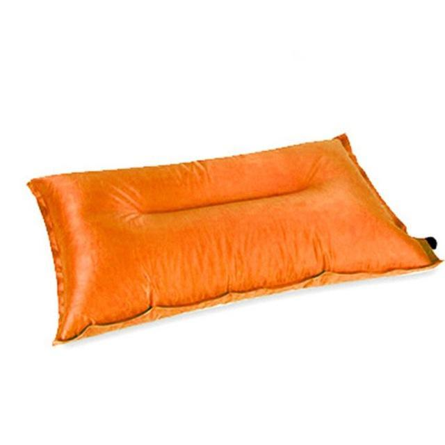 Brand Automatic Inflatable Pillow Air Cushion For Hiking Backpacking Travel-MILLIONS OF SHARE-Orange-Bargain Bait Box