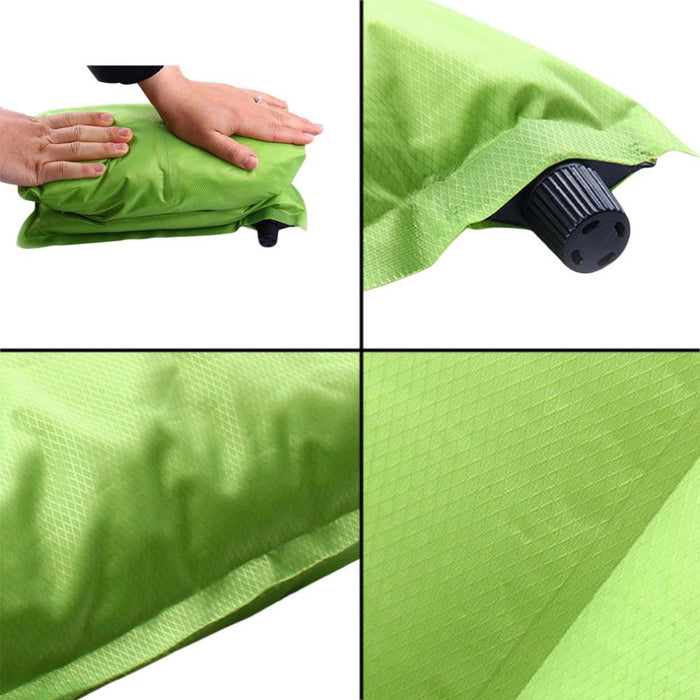 Brand Automatic Inflatable Pillow Air Cushion For Hiking Backpacking Travel-MILLIONS OF SHARE-Red-Bargain Bait Box