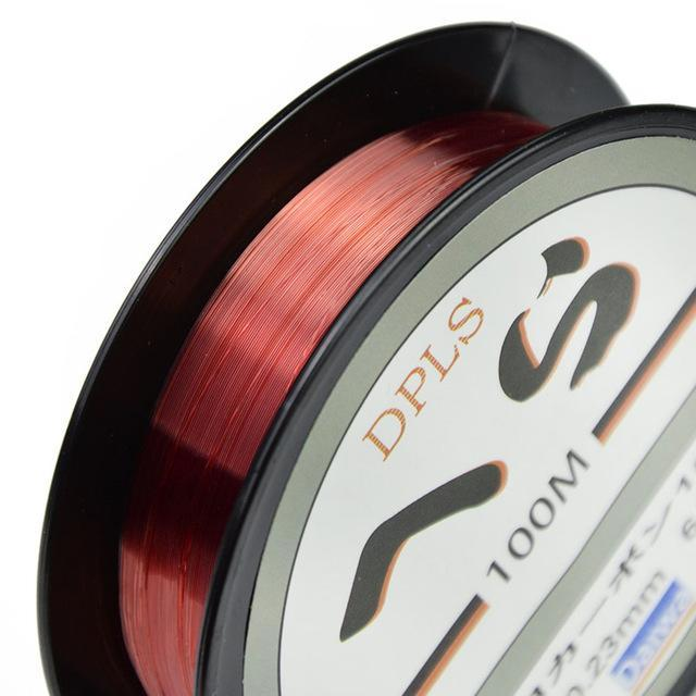 Brand Daiwa 100M Fluorocarbon Fishing Lines Strong Nylon Multifilament Fishing-DONQL Store-Red-0.4-Bargain Bait Box
