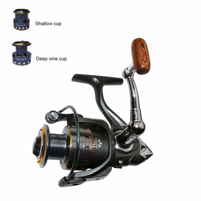 Brand Misurelure Mgg Series 11 Ball Bearings Metal Head Cnc Rocker Arm Fishing-Spinning Reels-FashionYK-S Outdoor Store-A-1000 Series-Bargain Bait Box