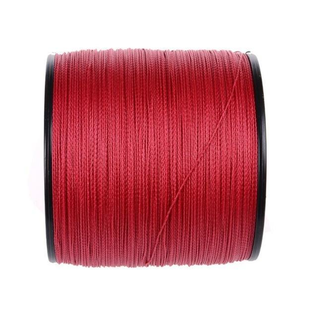 Brands High Quanlity 500M/547Yards Pe Braided Fishing Line 4 Strands Sea Fishing-WuHe Pro Fishing tackle-Red-0.6-Bargain Bait Box