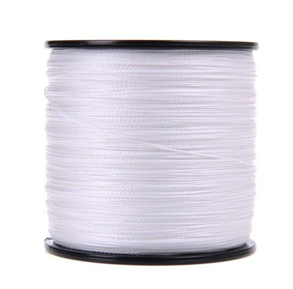 Brands High Quanlity 500M/547Yards Pe Braided Fishing Line 4 Strands Sea Fishing-WuHe Pro Fishing tackle-White-0.6-Bargain Bait Box