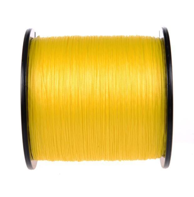 Brands High Quanlity 500M/547Yards Pe Braided Fishing Line 4 Strands Sea Fishing-WuHe Pro Fishing tackle-Yellow-0.6-Bargain Bait Box
