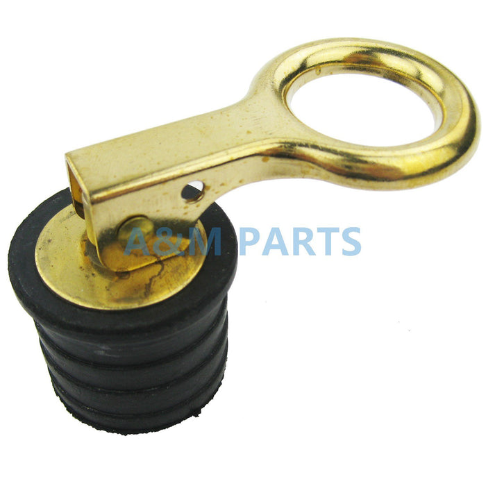 Brass Boat Marine Snap Handle Locking Drain Plug 1-1/4 Inch 32Mm-Boat Accessories-Bargain Bait Box-Bargain Bait Box
