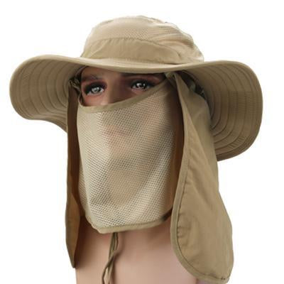 Breathable Research Bucket Hat Removable Uv Protection Polyester Sun Cap Polo-Hats-Bargain Bait Box-Khaki-Bargain Bait Box