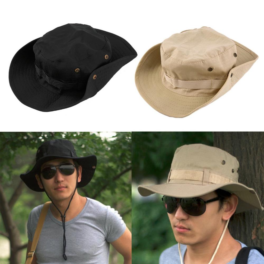 Bucket Hat Boonie Hunting Fishing Wide Cap Brim Military Unisex Perfect-Hats-Bargain Bait Box-black-M-Bargain Bait Box