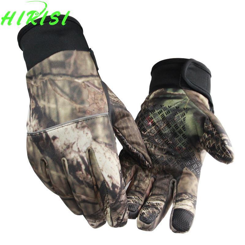 Camo Fishing Gloves Screen Touch Hunting Gloves Sporting Camping Sml-Gloves-Bargain Bait Box-L-Bargain Bait Box