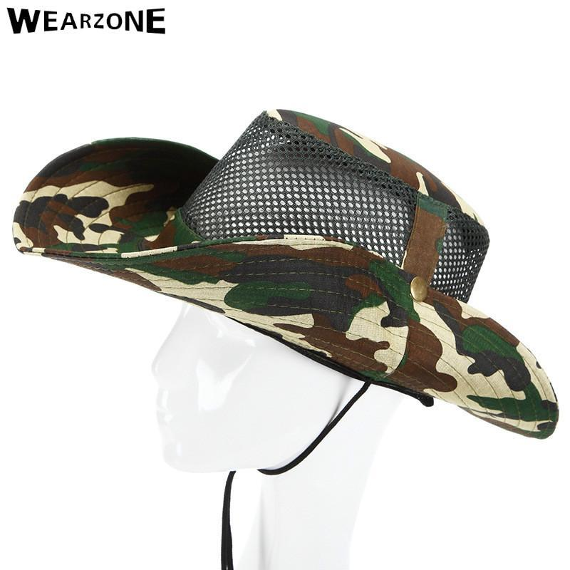 Camo Hats For Men Bucket Hat Bobsunscreen Casual Sunhat Women Wide Brim-Hats-Bargain Bait Box-Army Green-Bargain Bait Box