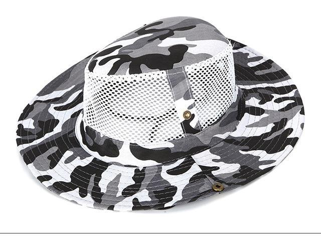 Camo Hats For Men Bucket Hat Bobsunscreen Casual Sunhat Women Wide Brim-Hats-Bargain Bait Box-Gray-Bargain Bait Box