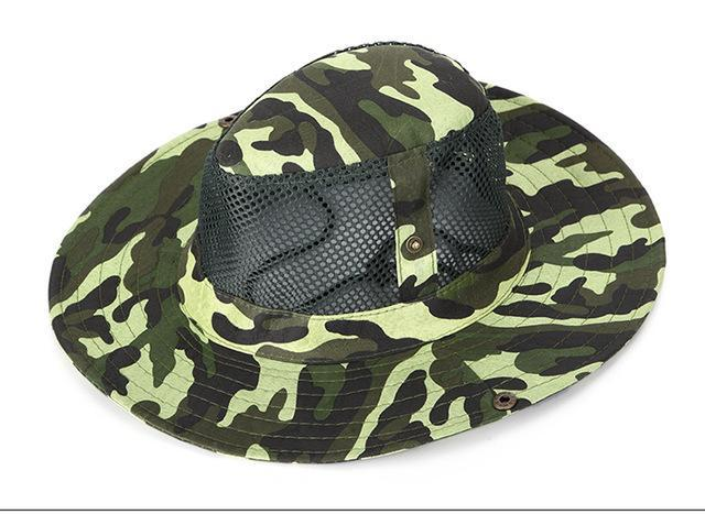 Camo Hats For Men Bucket Hat Bobsunscreen Casual Sunhat Women Wide Brim-Hats-Bargain Bait Box-Green-Bargain Bait Box