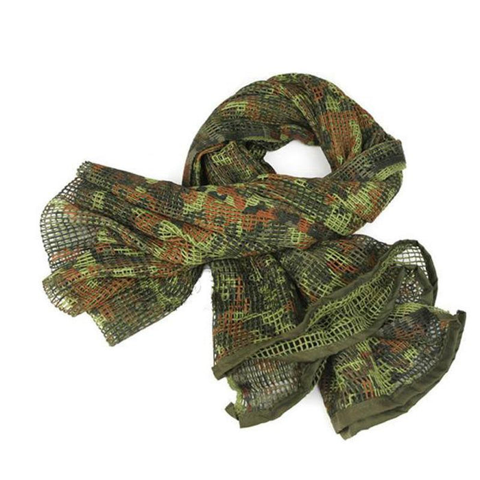 Camo Multipurpose Hiking Camping Military Scarves Field Combat Army Camouflage-CIKRILAN-Black-Bargain Bait Box