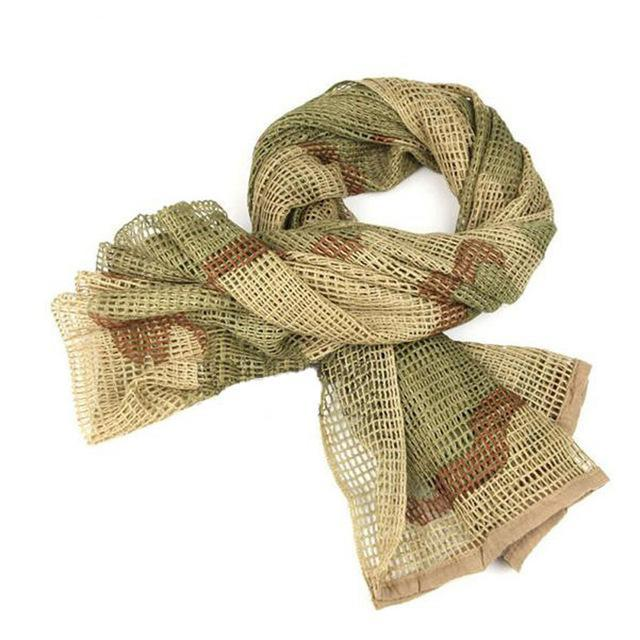 Camo Multipurpose Hiking Camping Military Scarves Field Combat Army Camouflage-CIKRILAN-Three sand camo-Bargain Bait Box