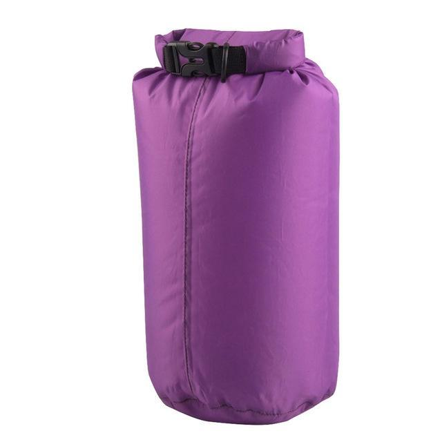 Camping Bolsa Seca 8L Waterproof Canoe Swimming Camping Backpack Dry Bag Pouch-Dry Bags-Bargain Bait Box-Purple Color-Bargain Bait Box