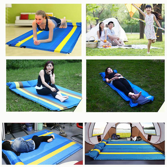Camping Inflatable Mat Outdoor Tent Folding Mattress Explosion Proof Camping-Camping Mat-Alpscamping Store-Blue-Bargain Bait Box