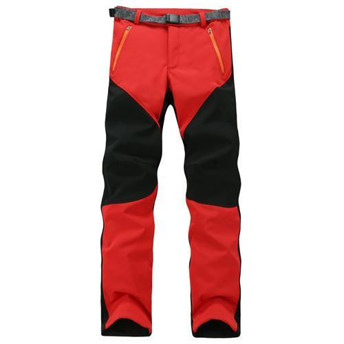 Camping Sport Pants Warm Waterproof Fleece Windproof Fishing Pants Men Women-Pants-Bargain Bait Box-Red-XXL-Bargain Bait Box