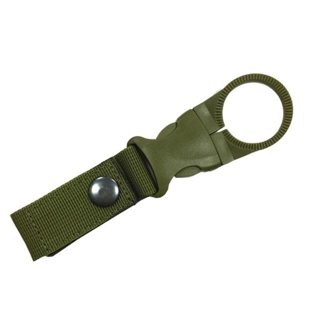 Camping Water Bottle Holder Clip Tactical Carabiner Belt Buckle-Cords & Carabiners-Bargain Bait Box-Army Green-Bargain Bait Box