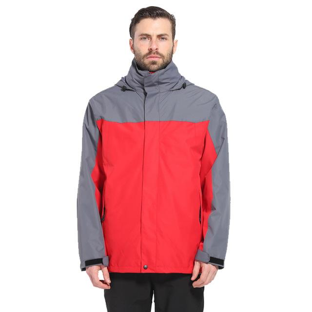 Camping Waterproof Windproof Jacket Fishing Tourism Sports Coat Jackets For Mens-Jackets-Bargain Bait Box-red-S-Bargain Bait Box