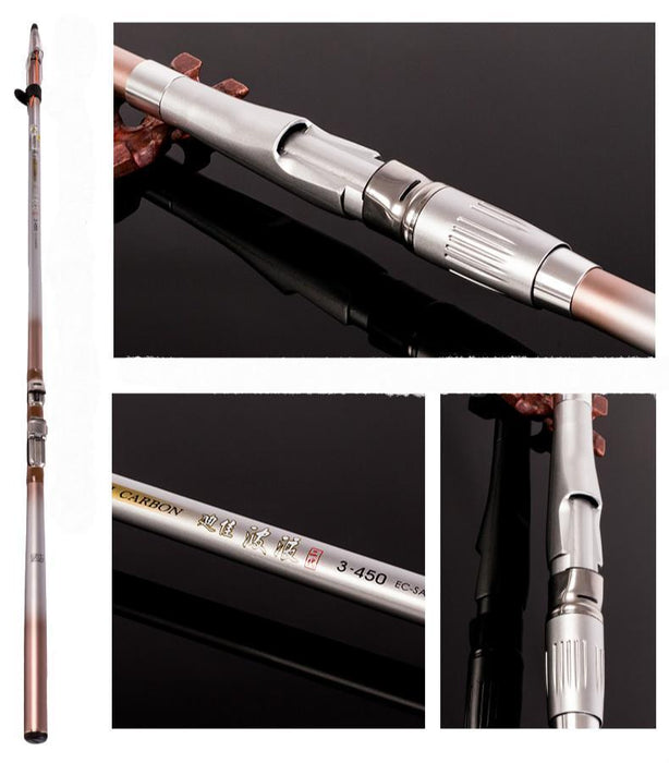 Carbon Long Section Rock Fishing Rod 3.6/4.5/5.4/6.3/M Portable Telescopic-Telescoping Fishing Rods-ZHANG 's Professional lure trade co., LTD-3.6 m-Bargain Bait Box